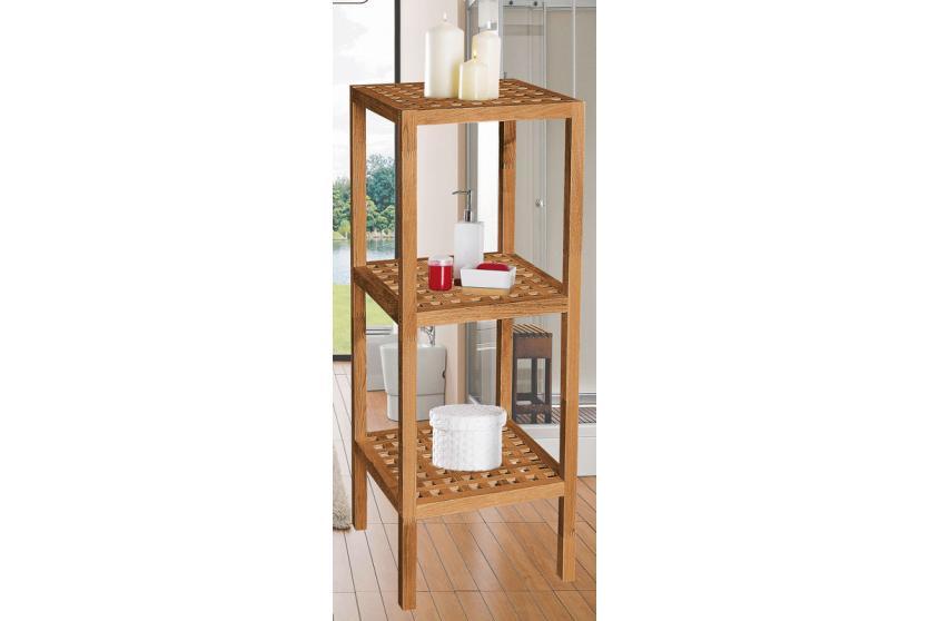 badregal standregal regal 3 b den holz walnuss ge lt. Black Bedroom Furniture Sets. Home Design Ideas