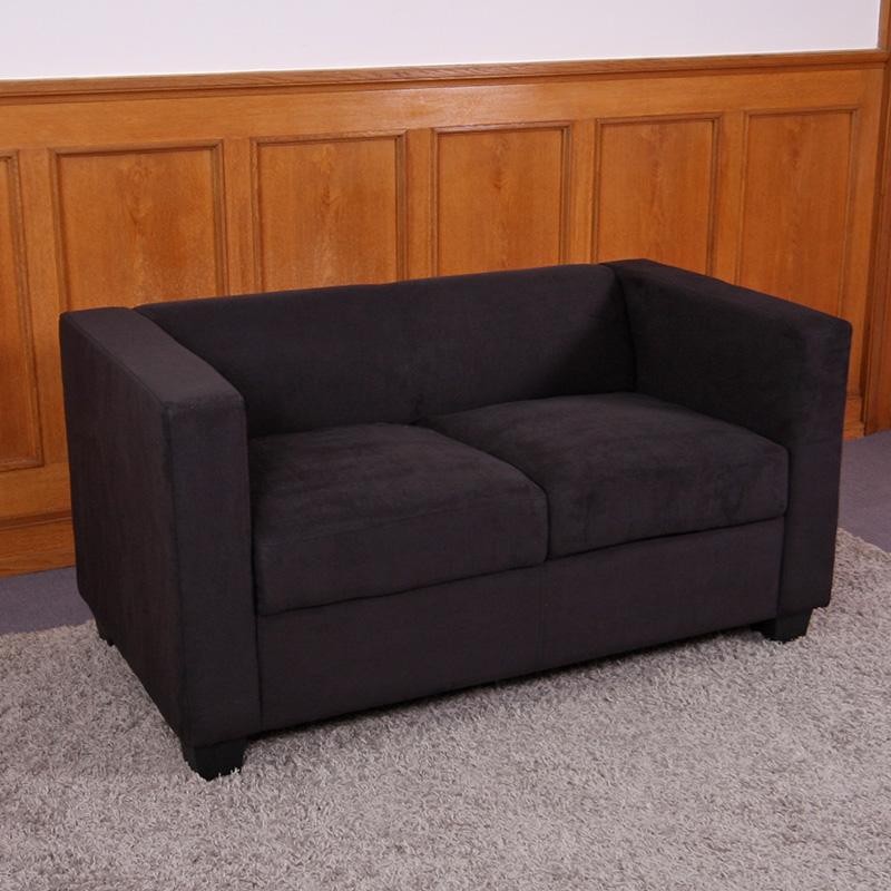 2er Sofa Loungesofa Couch Lille Kunstleder Leder