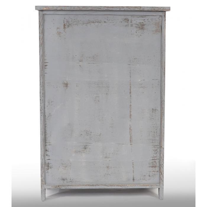 Kommode Schrank, 82x55x30cm, Shabby-Look, Vintage grau