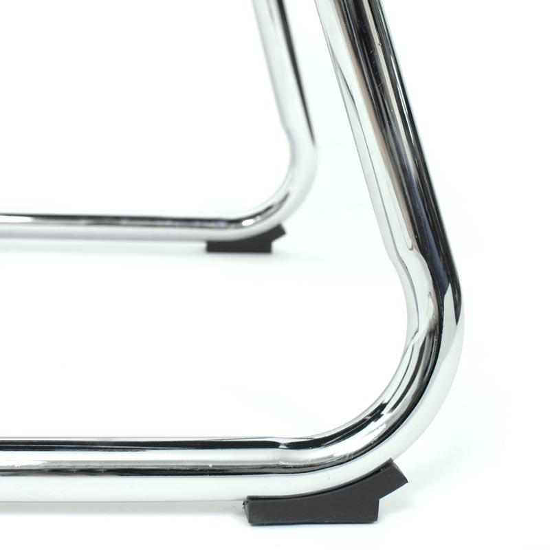 Konferenzstuhl Besucherstuhl Stuhl Ancona ~ Kunstleder, schwarz