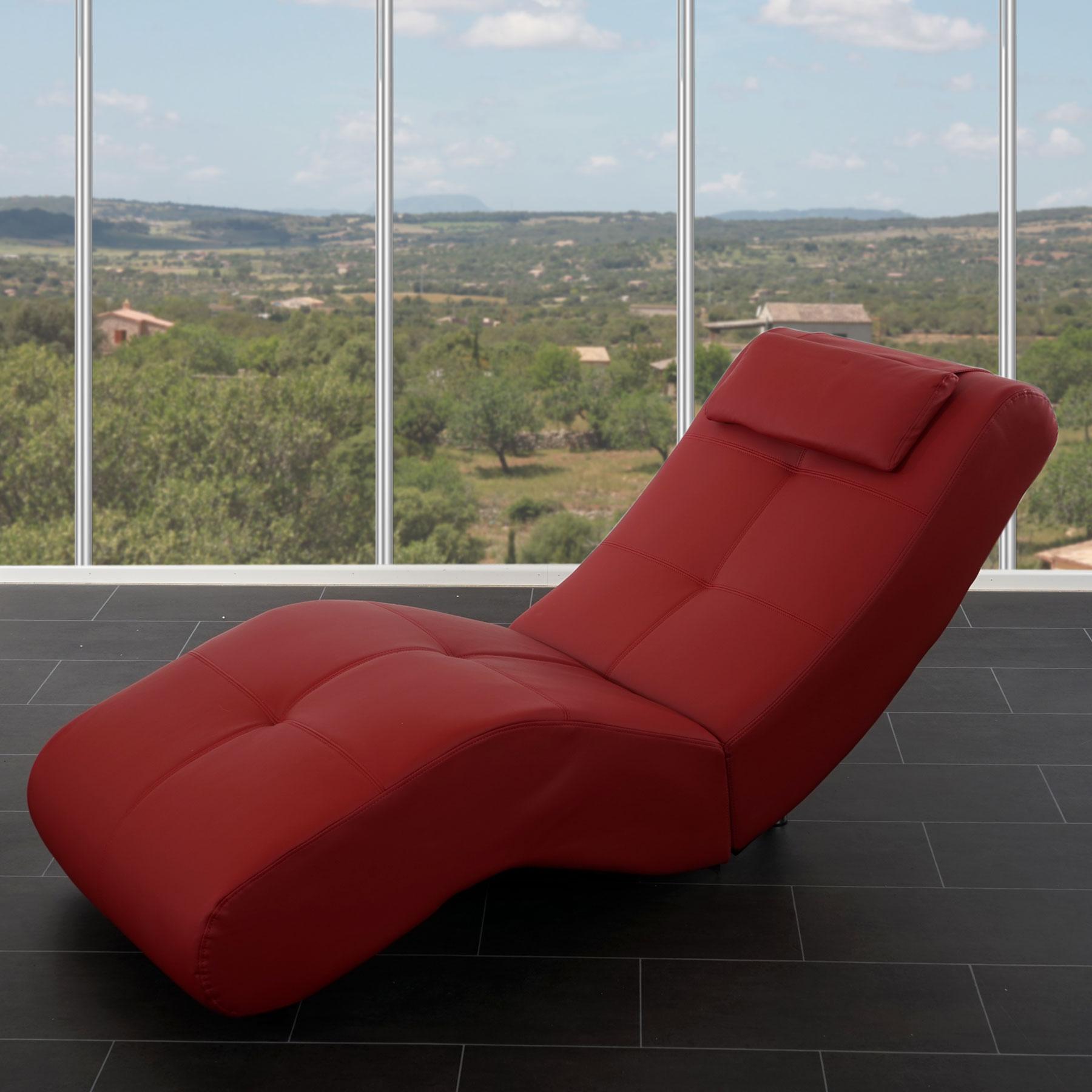 Design chaiselounge poltrona relax livorno ii ecopelle for Poltrona design ebay