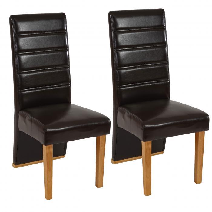 2x esszimmerstuhl krems stuhl lehnstuhl hochlehner kunstleder braun helle beine. Black Bedroom Furniture Sets. Home Design Ideas