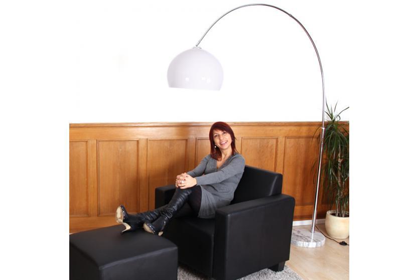 Bogenlampe Weiss Mit Dimmer ~ Reality trio bogenlampe lounge deal höhe m schirm cm weiß
