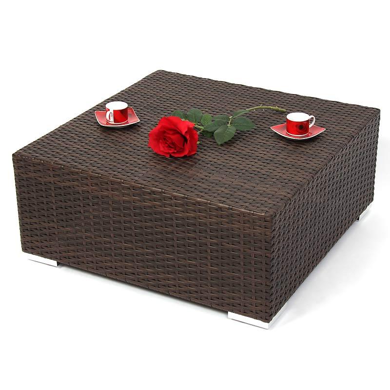 Modulares Poly-Rattan Alu-Sofa RomV, braun-meliert  eBay