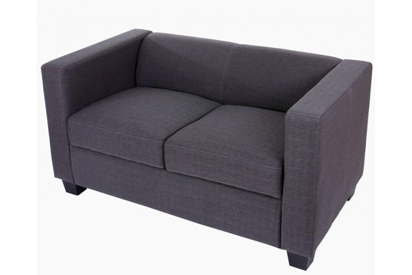 2er sofa couch loungesofa lille textil anthrazit. Black Bedroom Furniture Sets. Home Design Ideas