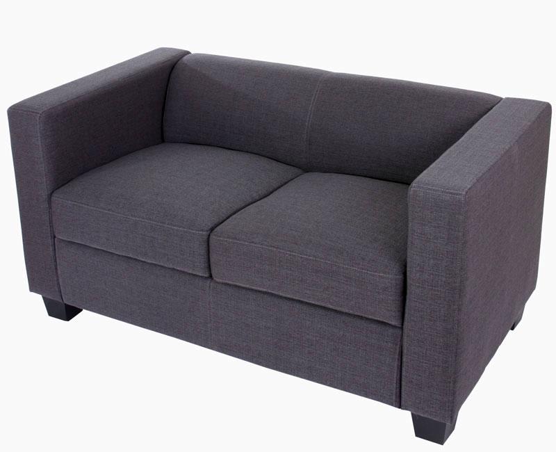 2er Sofa Loungesofa Couch Lille Kunstleder Leder Mikrofaser Textil ...