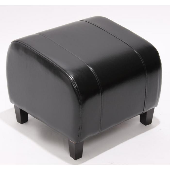 hocker sitzw rfel sitzhocker emmen leder 37x45x47 cm schwarz. Black Bedroom Furniture Sets. Home Design Ideas