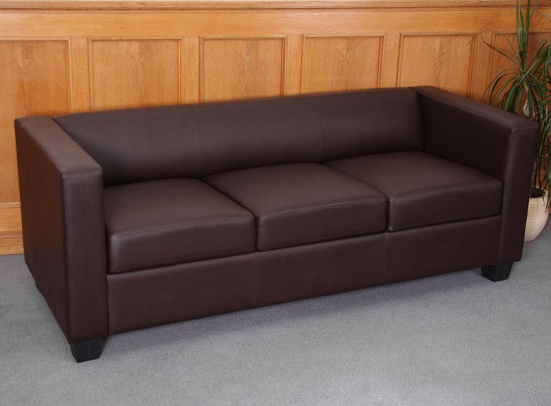 3er sofa couch loungesofa lille kunstleder coffee. Black Bedroom Furniture Sets. Home Design Ideas
