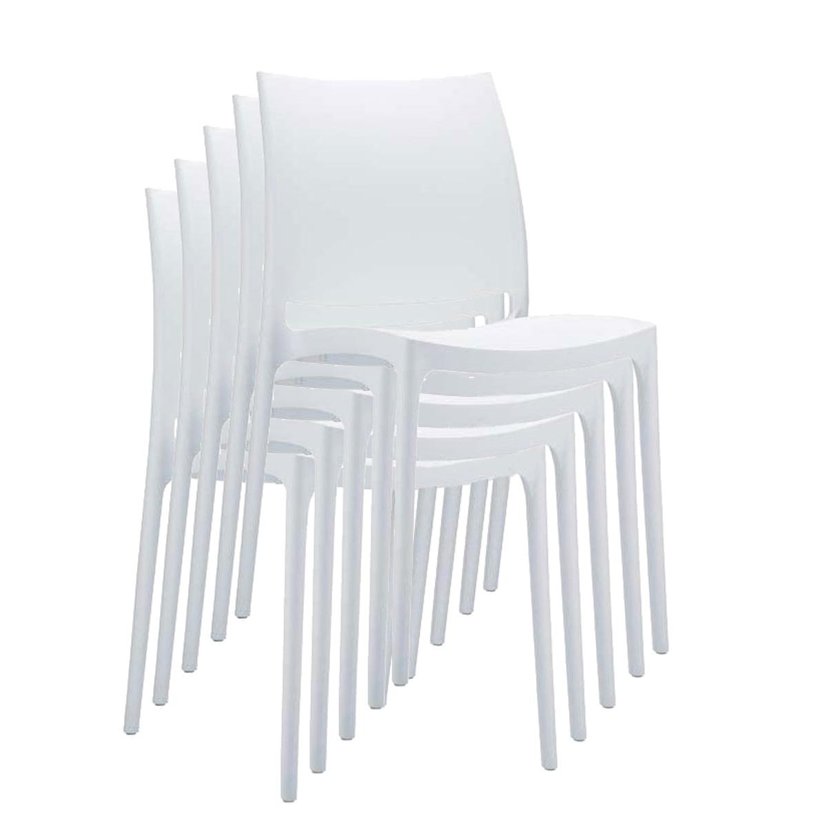Extrem Stapelstuhl Bistrostuhl Gartenstuhl Kunststoff C44 ~ weiß KI22