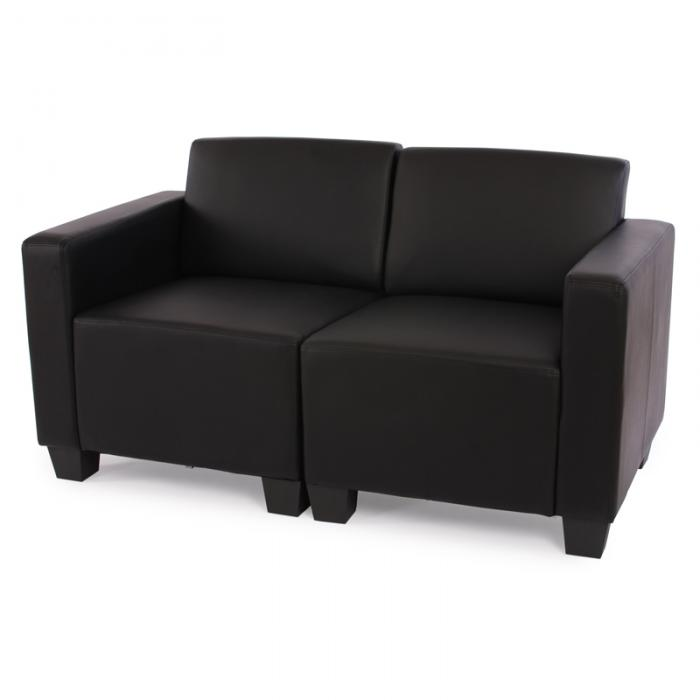 modular 2 sitzer sofa couch lyon kunstleder schwarz. Black Bedroom Furniture Sets. Home Design Ideas