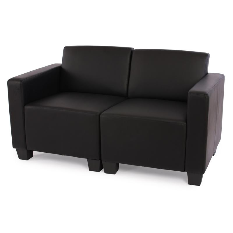 Modular Zweisitzer Sofa Couch Lyon Kunstleder Schwarz Creme Rot Ebay