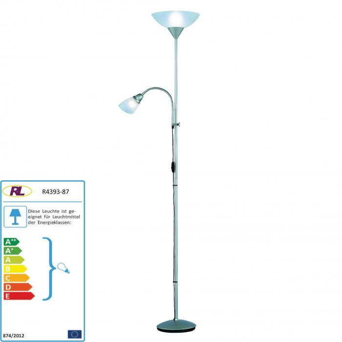Reality | Trio LED-Deckenfluter Stehlampe Leseleuchte, 8W-LED, EEK A+