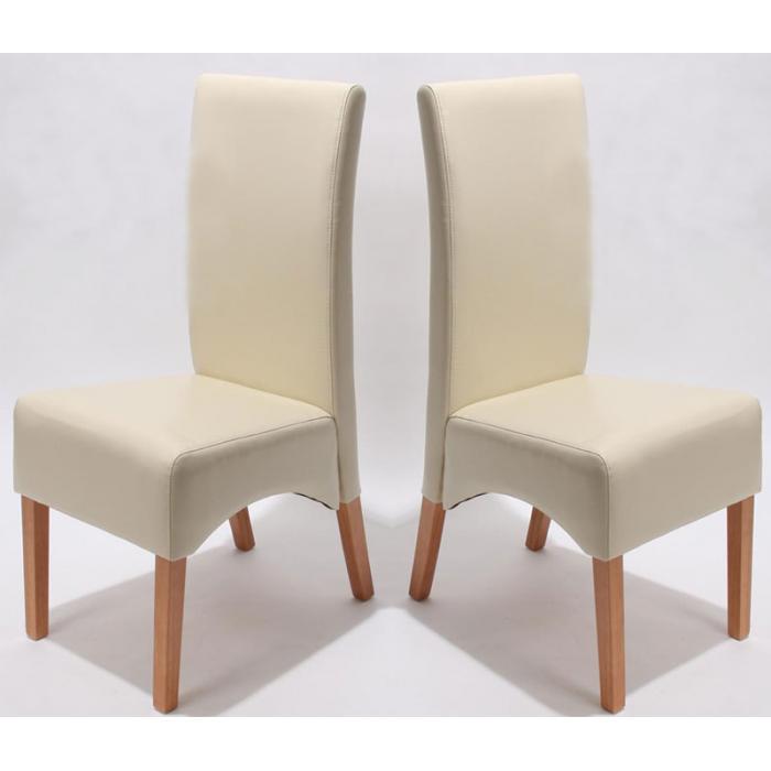 6x esszimmerstuhl lehnstuhl stuhl latina leder creme helle beine. Black Bedroom Furniture Sets. Home Design Ideas