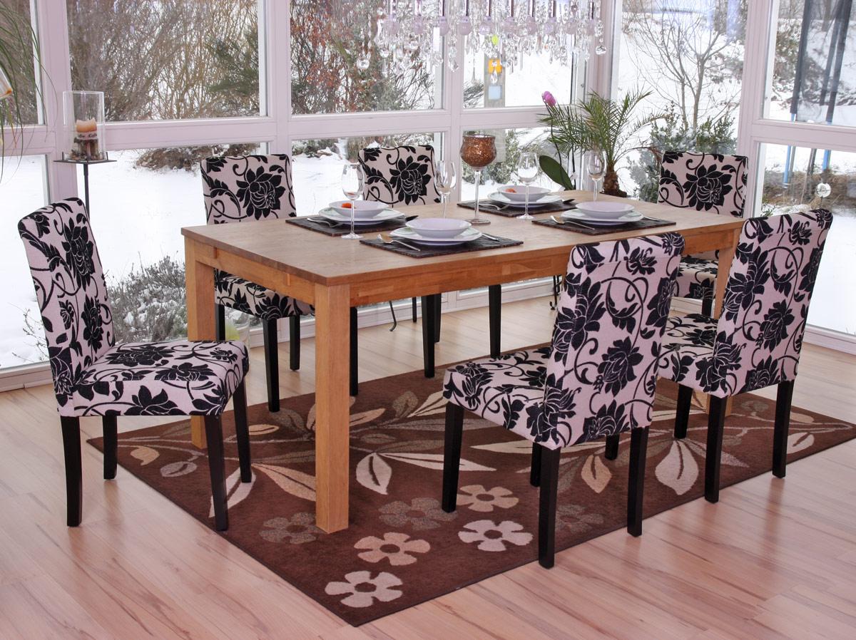 Sedie Per Sala Da Pranzo : Set sedie littau tessuto per sala da pranzo cm fiori