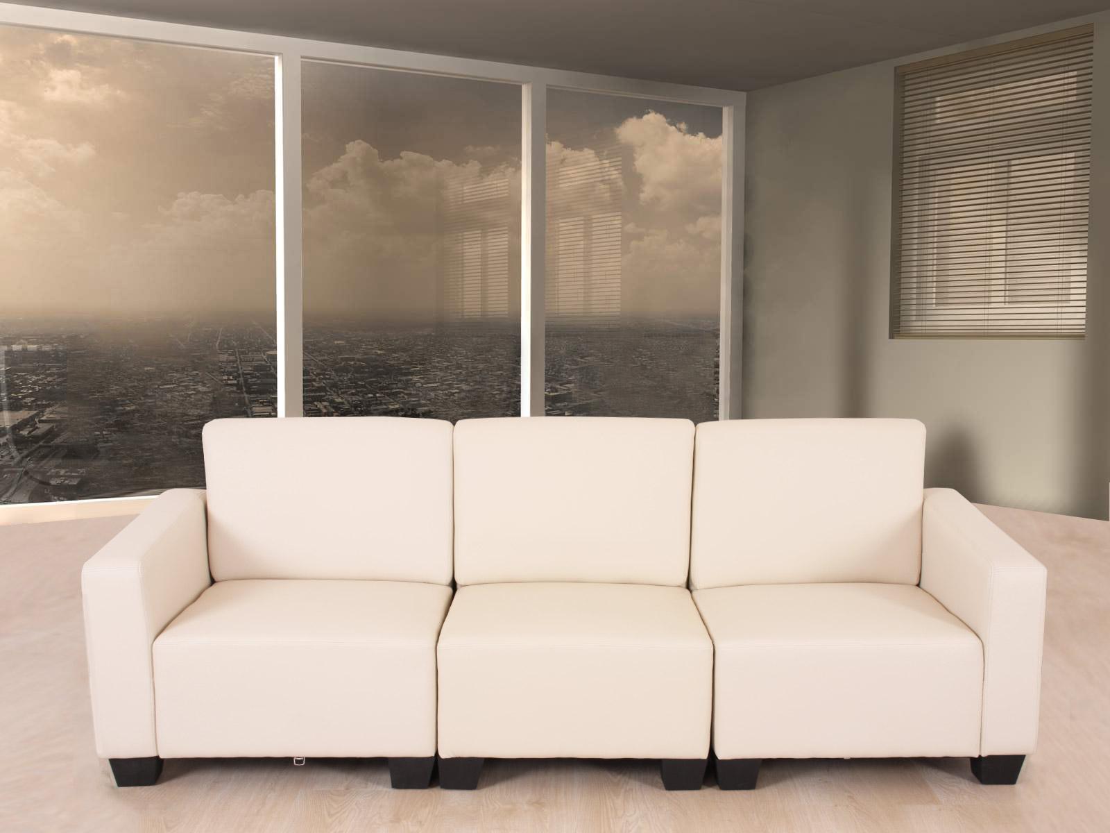 modular 4 sitzer sofa couch lyon kunstleder rot schwarz. Black Bedroom Furniture Sets. Home Design Ideas