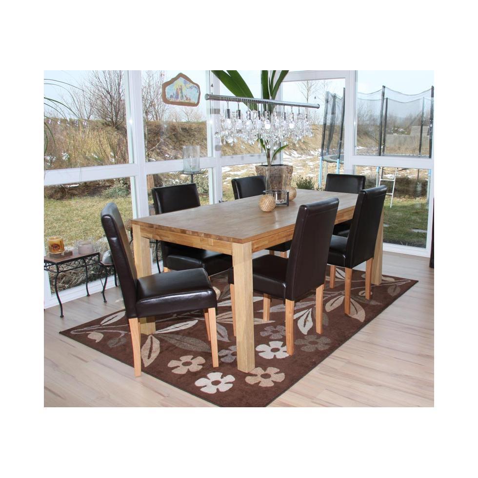 Set 6x sedie littau pelle per sala da pranzo 43x56x90cm for Sedie per sala da pranzo in pelle