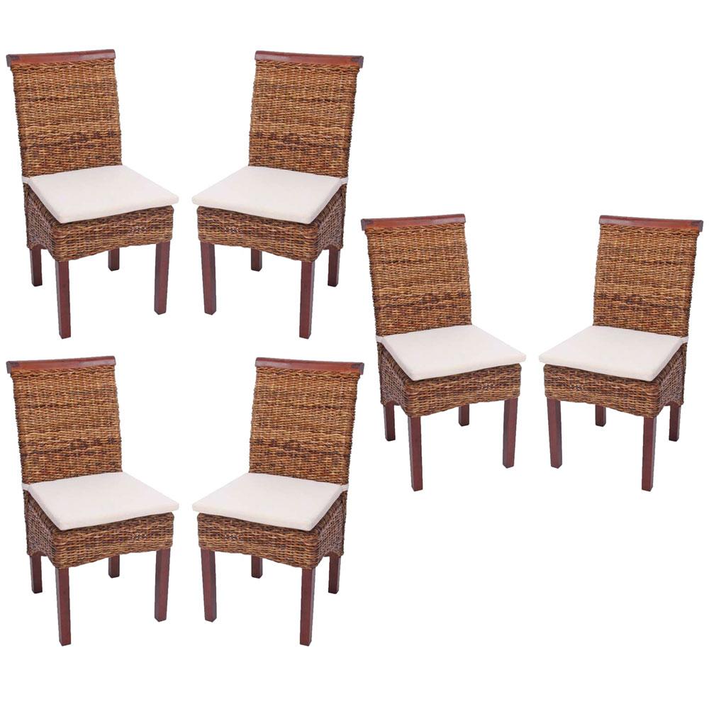 6x esszimmerstuhl korbstuhl m45 stuhl bananengeflecht ebay. Black Bedroom Furniture Sets. Home Design Ideas