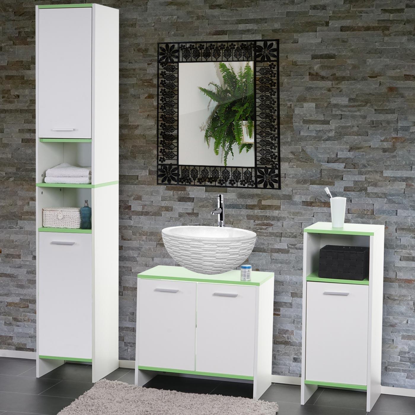 badezimmer set arezzo waschbeckenunterschrank hochschrank. Black Bedroom Furniture Sets. Home Design Ideas