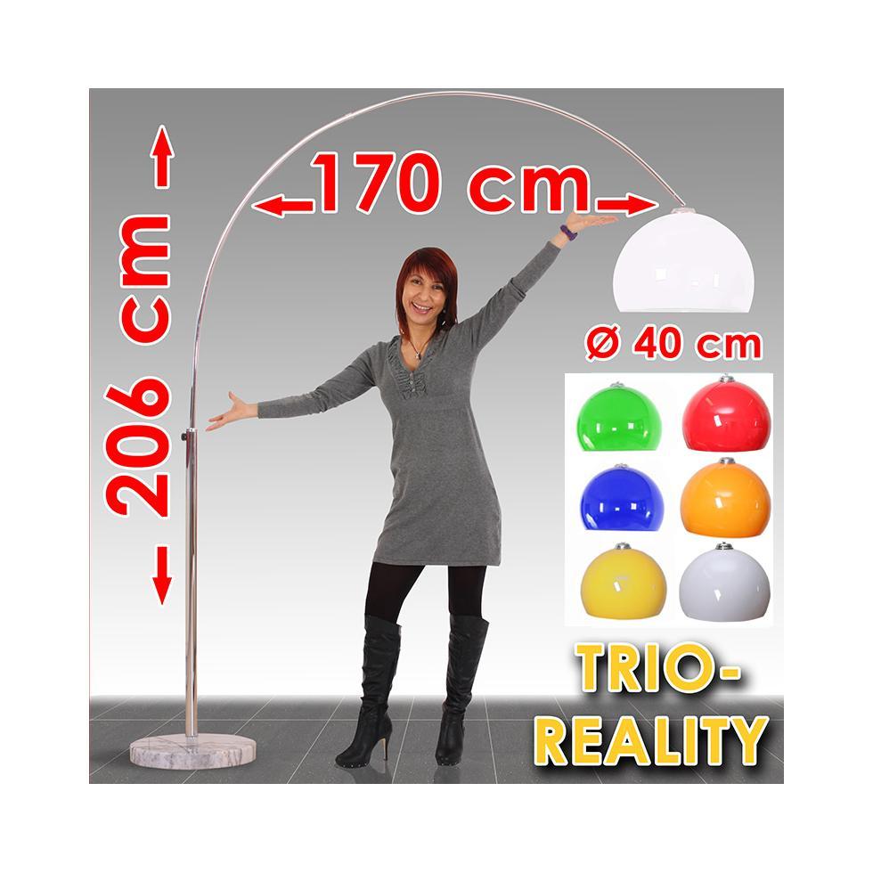 reality trio bogenlampe lounge deal h he 2 06m schirm 40cm ebay. Black Bedroom Furniture Sets. Home Design Ideas