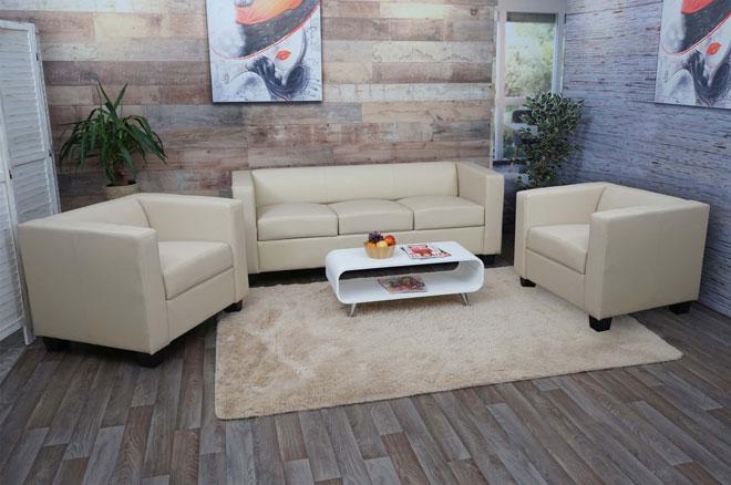 3-2-1 Sofagarnitur Couchgarnitur Loungesofa Lille Ambiente