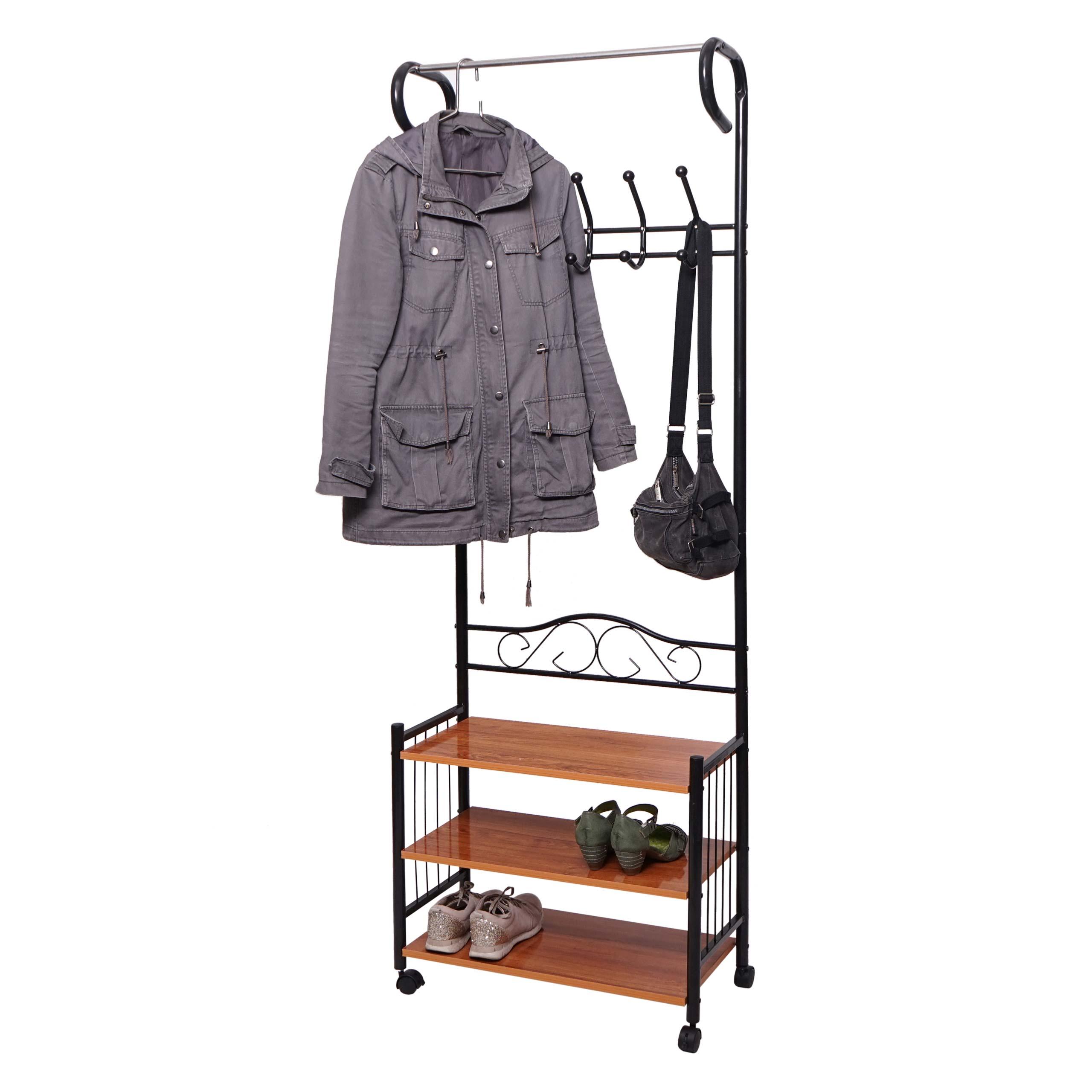 Metall Garderobe Oshawa, Standgarderobe Kleiderstange, 9x9x9cm