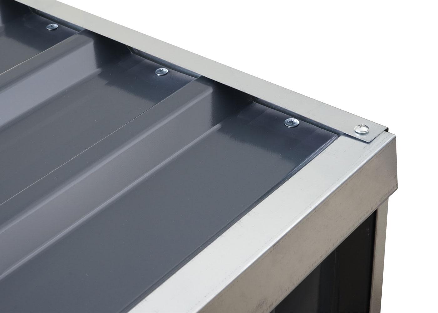 Brennholzlager HWC-F22 Detailansicht Dach