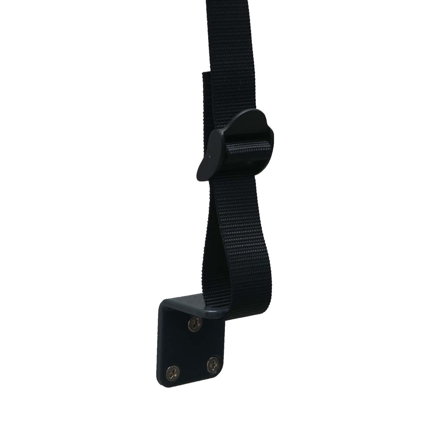 Vertikalmarkise HWC-F42 Detail Wandfixierung mit Haltebändern