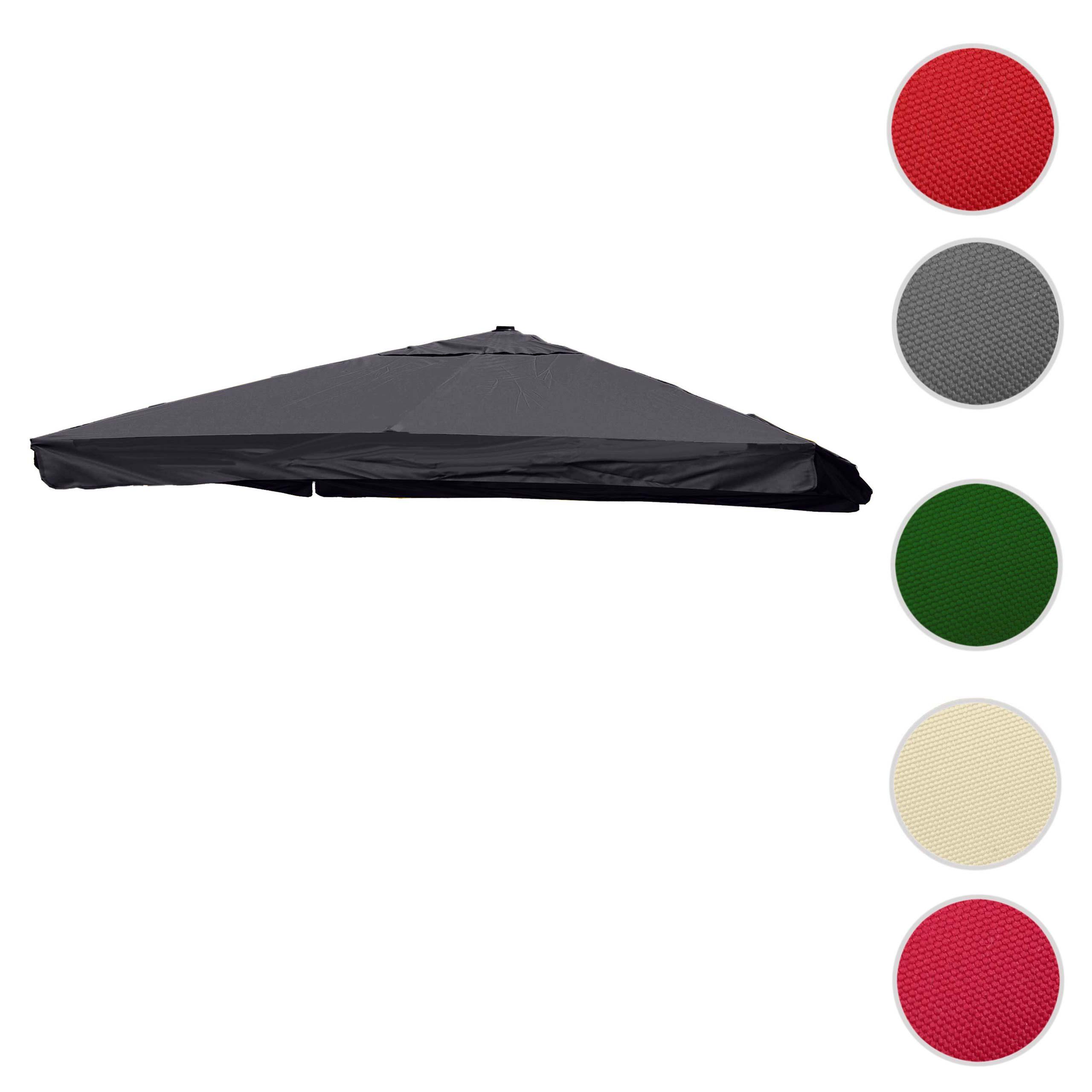 Mendler Bezug für Luxus-Ampelschirm HWC-A96 mit Flap, Sonnenschirmbezug Ersatzbezug, 3x3m (Ř4,24m) Polyester 70116