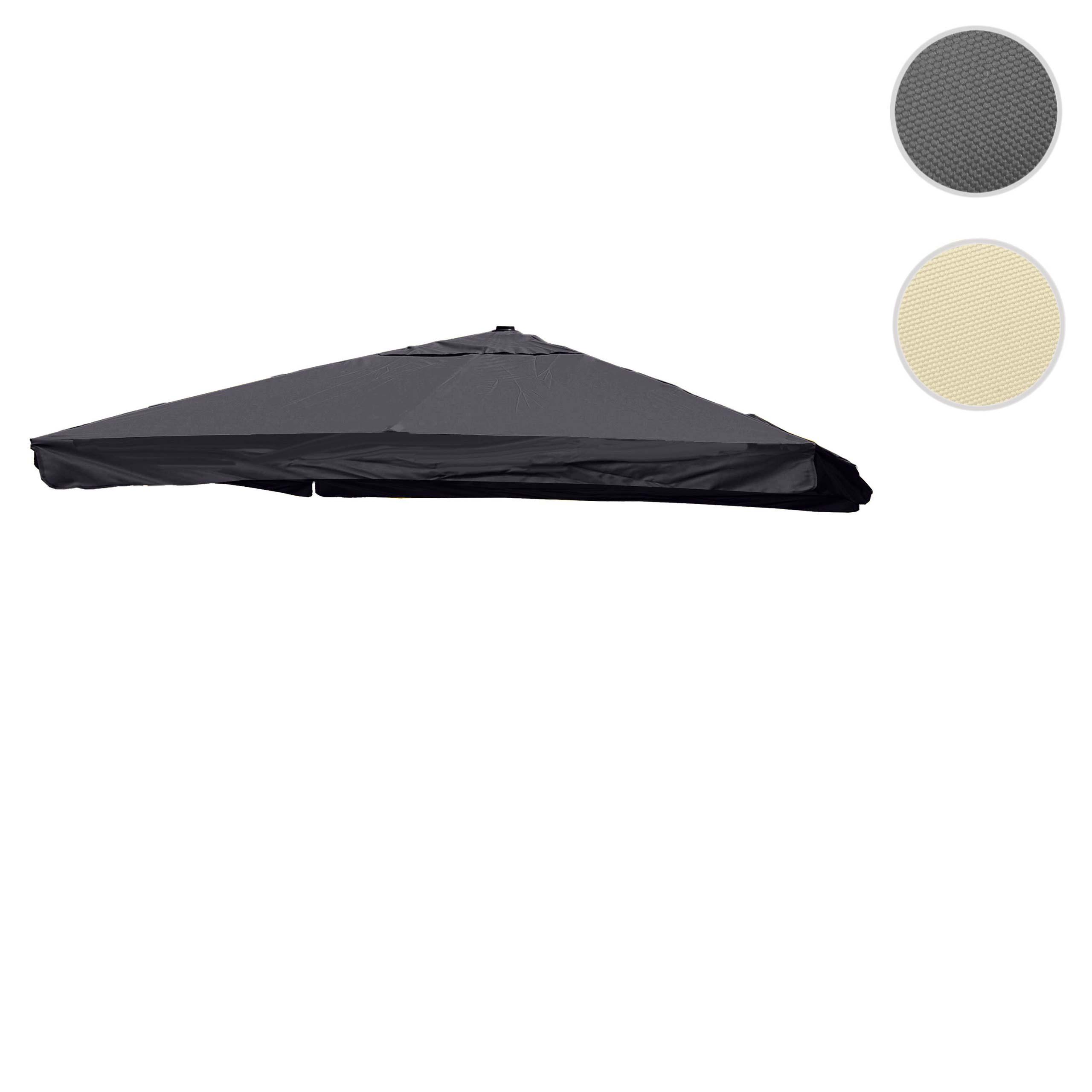 Mendler Bezug für Luxus-Ampelschirm HWC-A96 mit Flap, Sonnenschirmbezug Ersatzbezug, 3,5x3,5m (Ř4,95m) Polye 70129