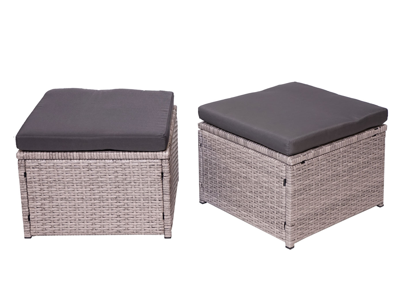 Poly-Rattan Garnitur HWC-G78 Hocker