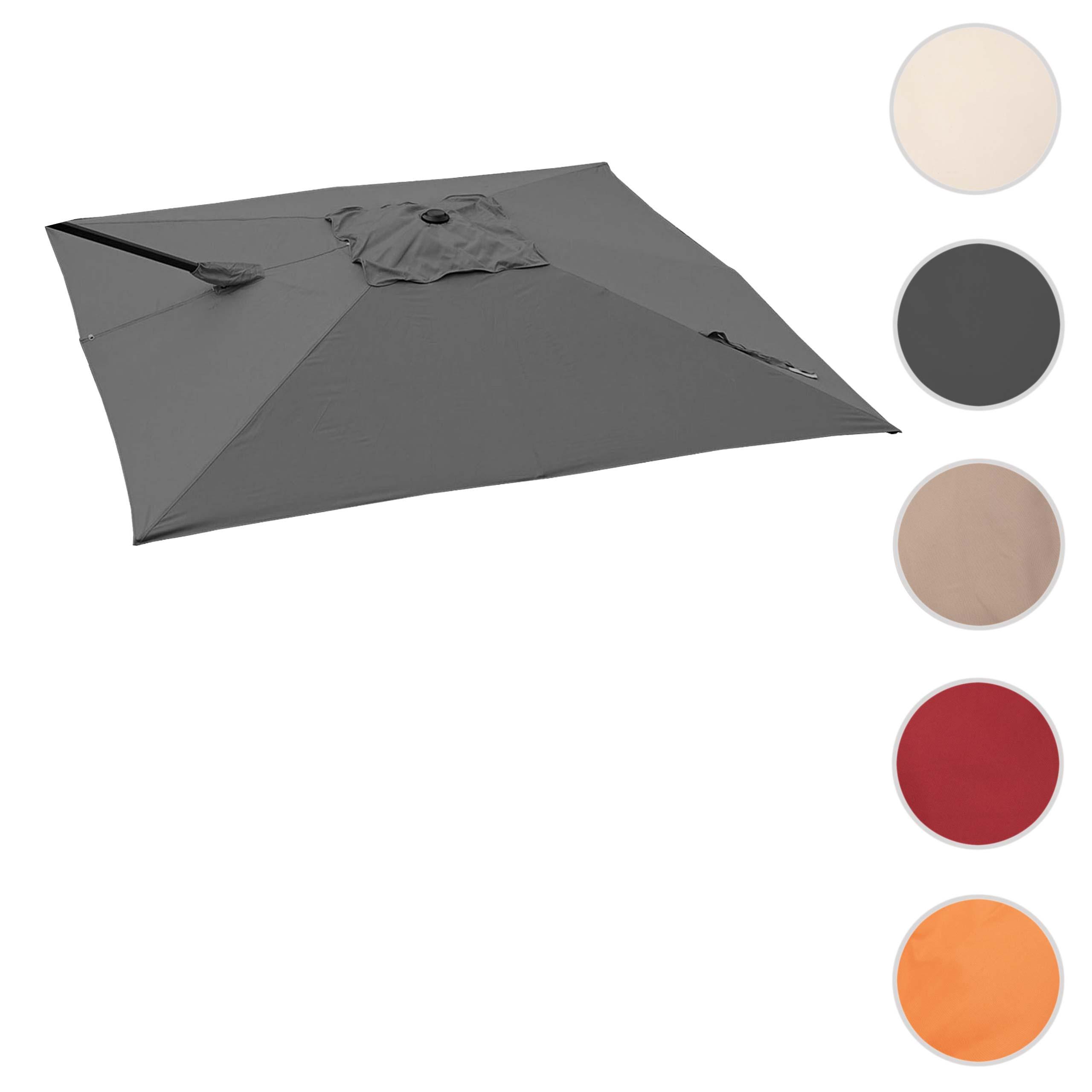 Mendler Bezug für Ampelschirm HWC-A39, Sonnenschirmbezug Ersatzbezug, 3x3m (Ř4,24m) Polyester 2,8kg ~ Varian 70333