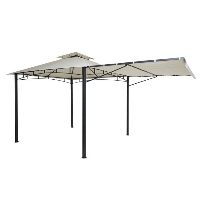 Pergola, Garten Pavillon, Stahl bewegliche Seitenwand 2,5x2,5m
