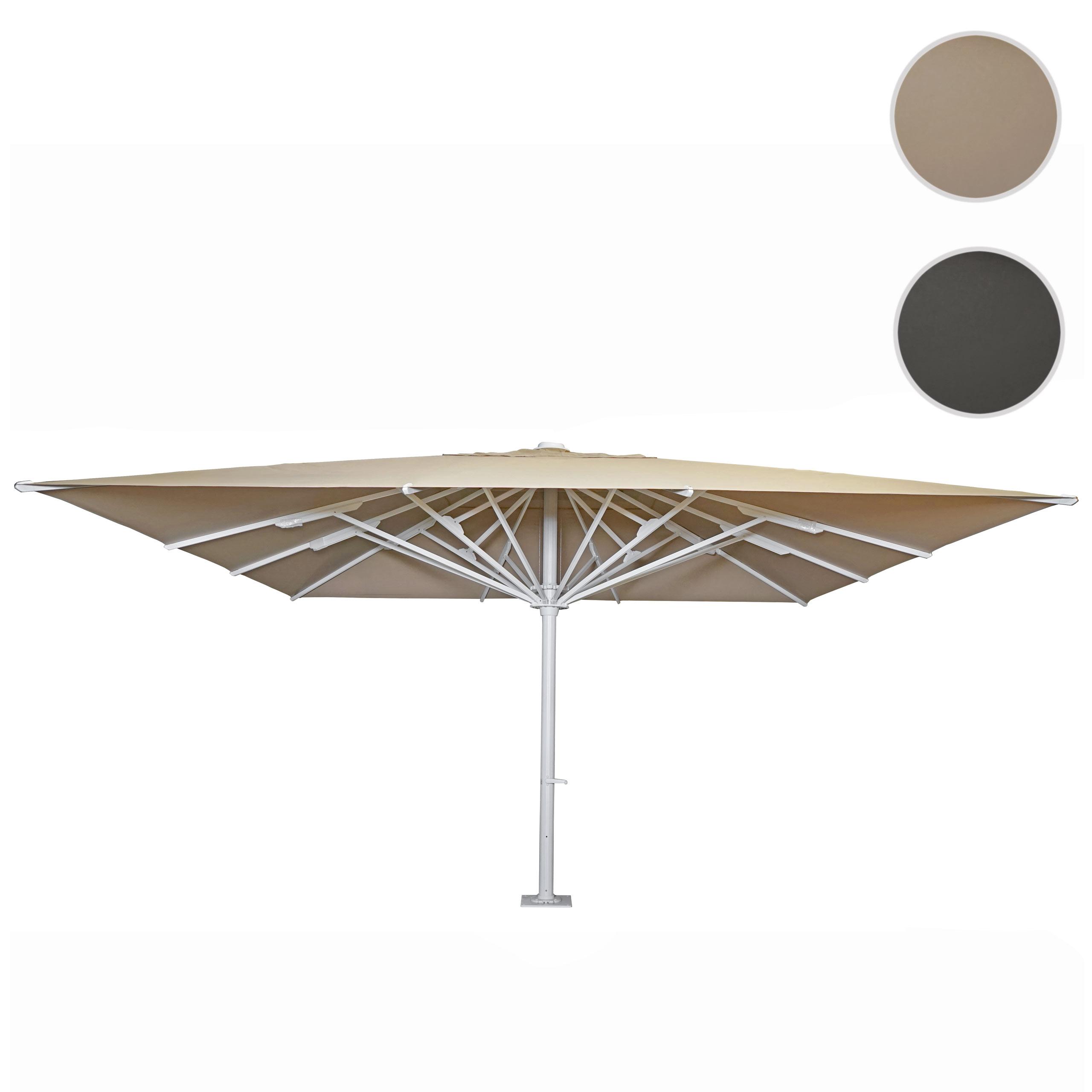 Mendler Gastronomie-Luxus-Sonnenschirm HWC-D20b, XXL-Schirm Marktschirm, 5x5m (Ř7,2m) Polyester/Alu 75kg ~ V 70737