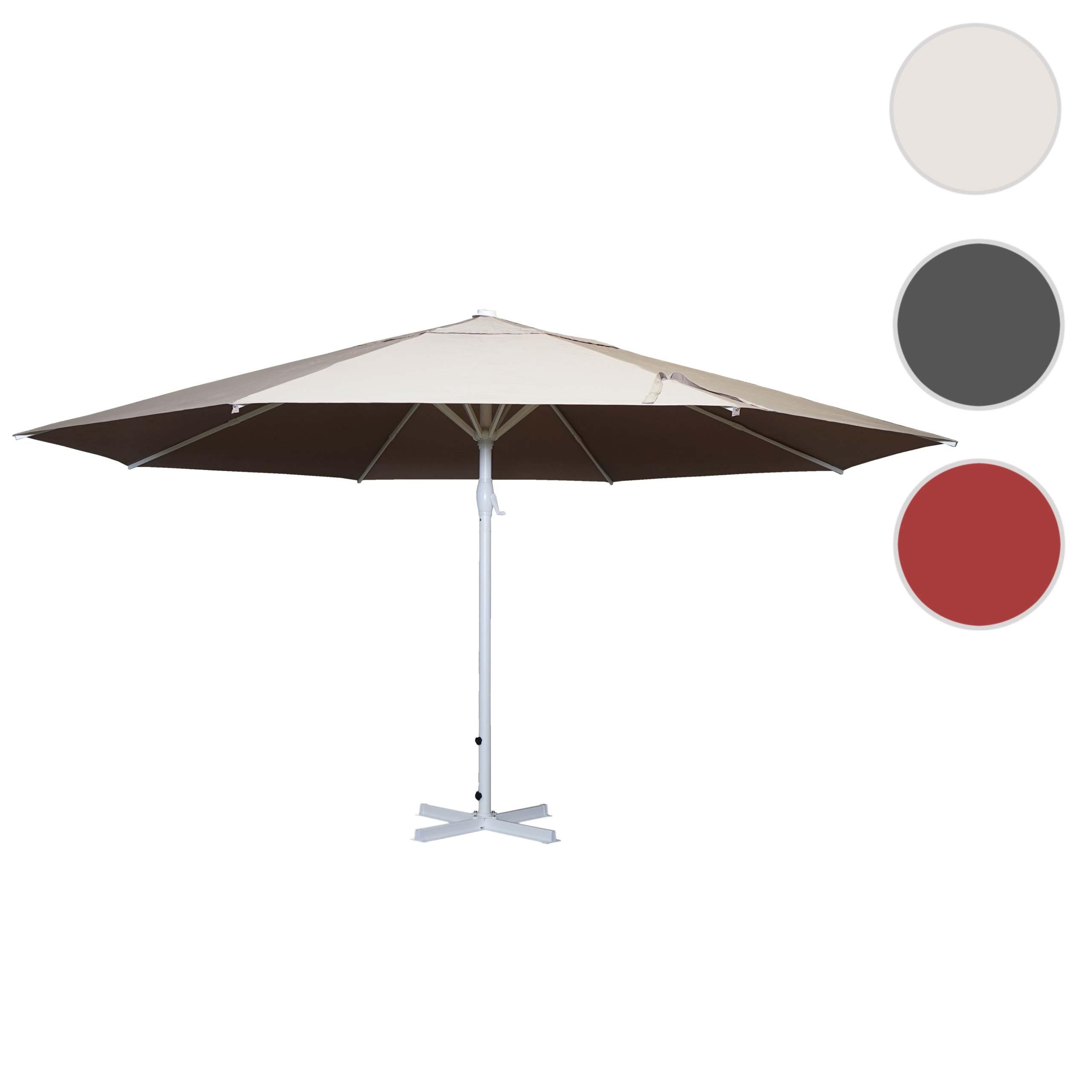Mendler Sonnenschirm Meran II, Gastronomie Marktschirm, Ř 5m Polyester/Alu Mast weiß 28kg ~ Variantenangebot 70739