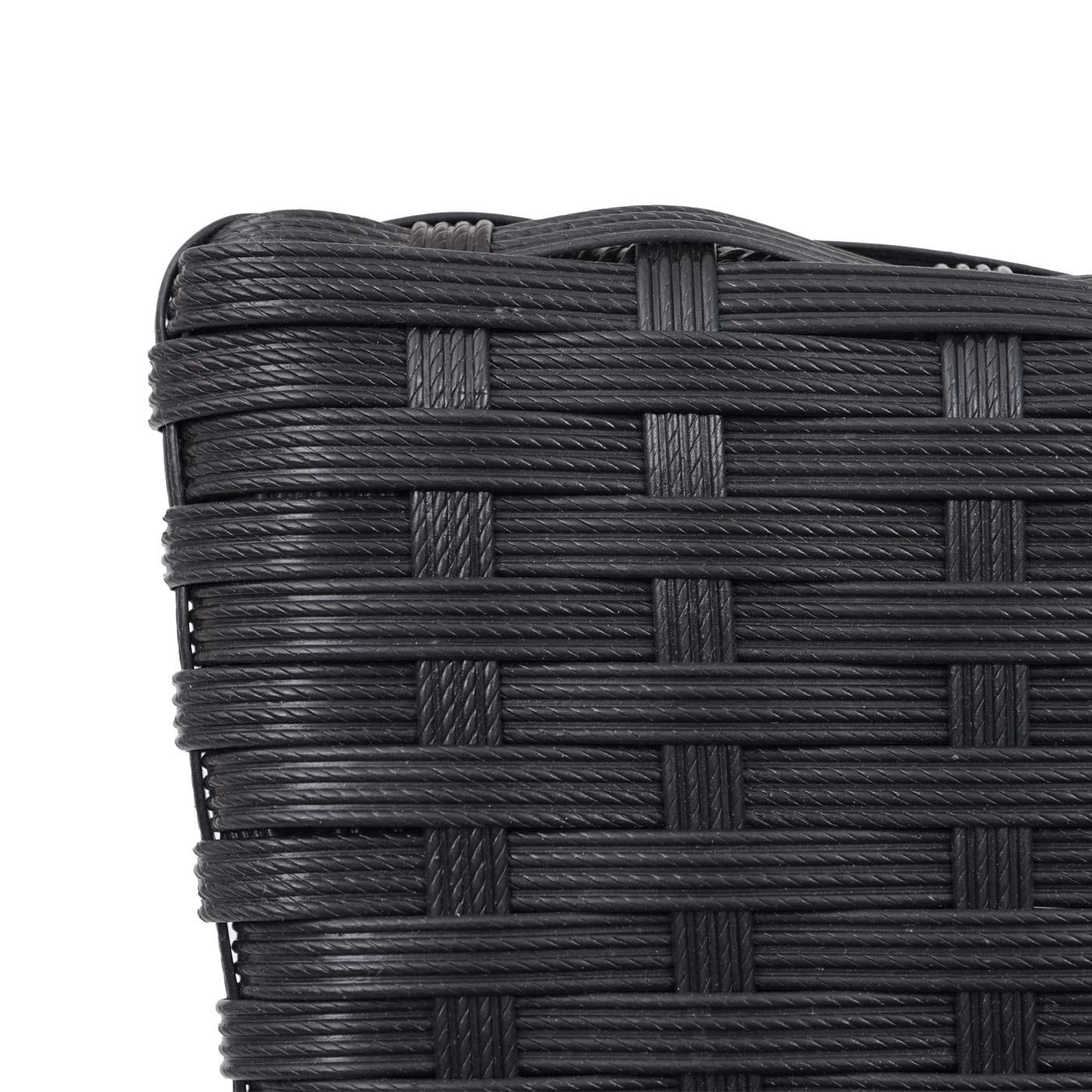2xPoly-Rattan Stuhl HWC-G19 Detail Rückenlehne