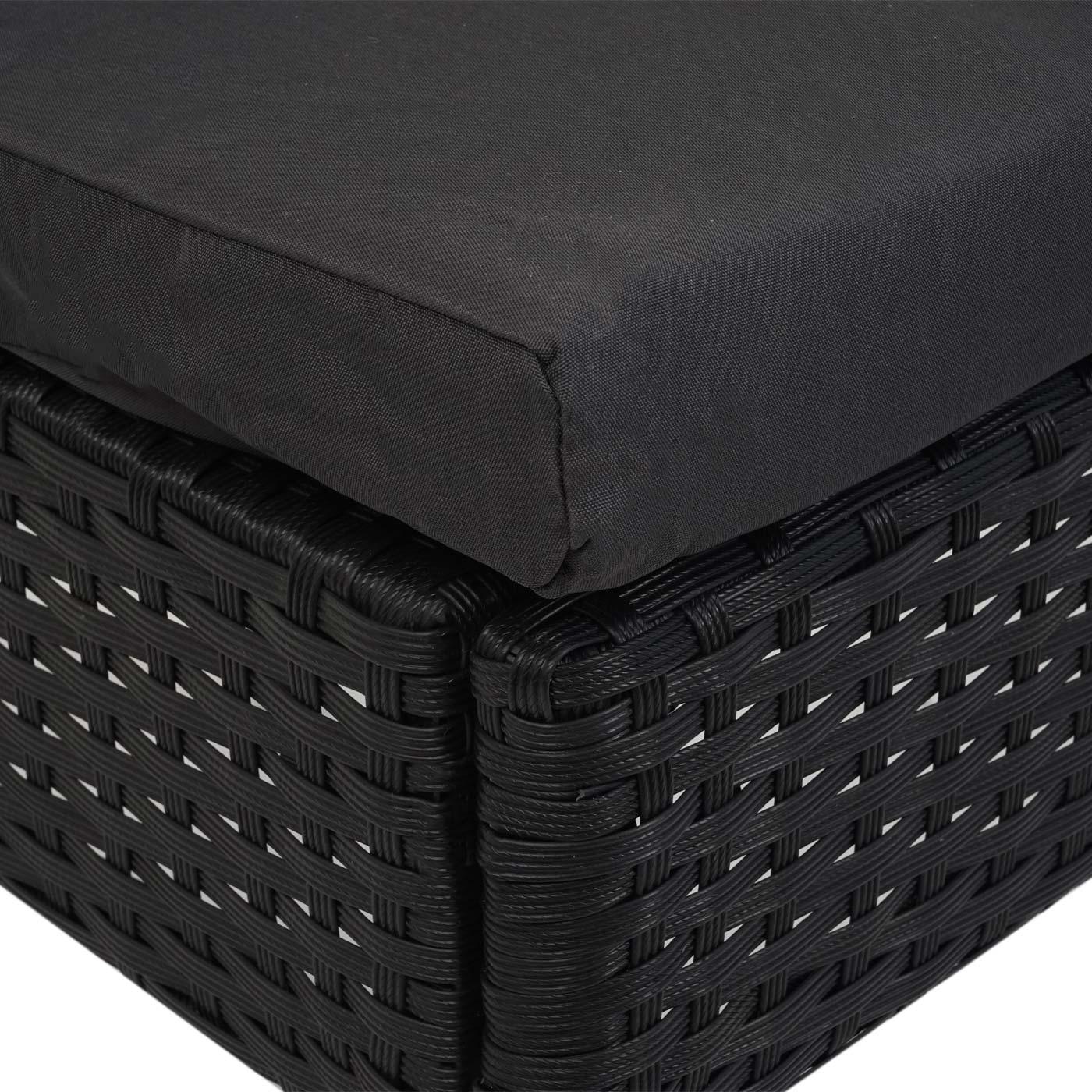 2xPoly-Rattan Stuhl HWC-G19 Detail Sitzfläche