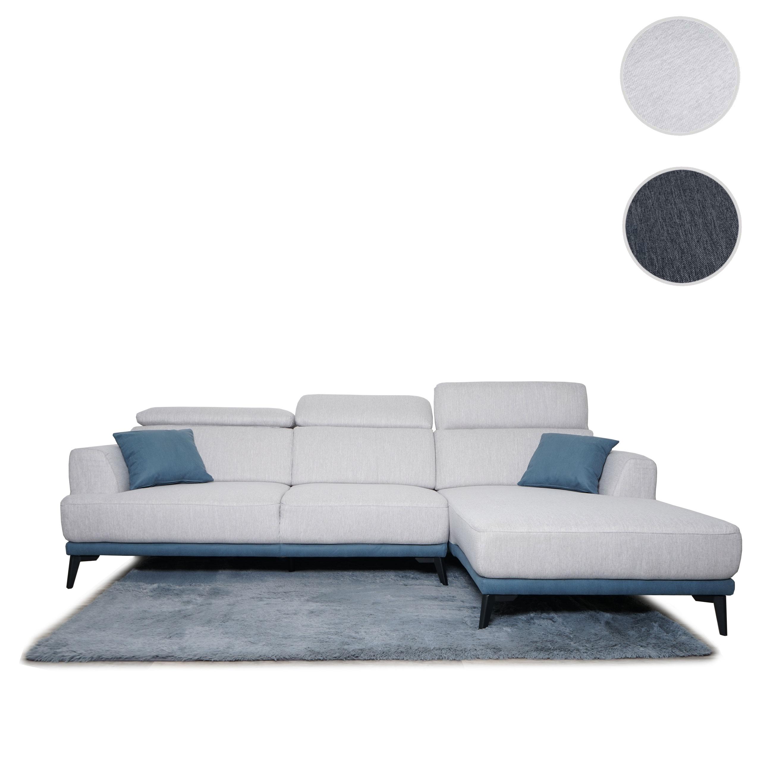 Mendler Sofa HWC-G44, Couch Ecksofa L-Form, Liegefläche Nosagfederung Taschenfederkern Teppich verstellbar ~ 71519+71520+70293