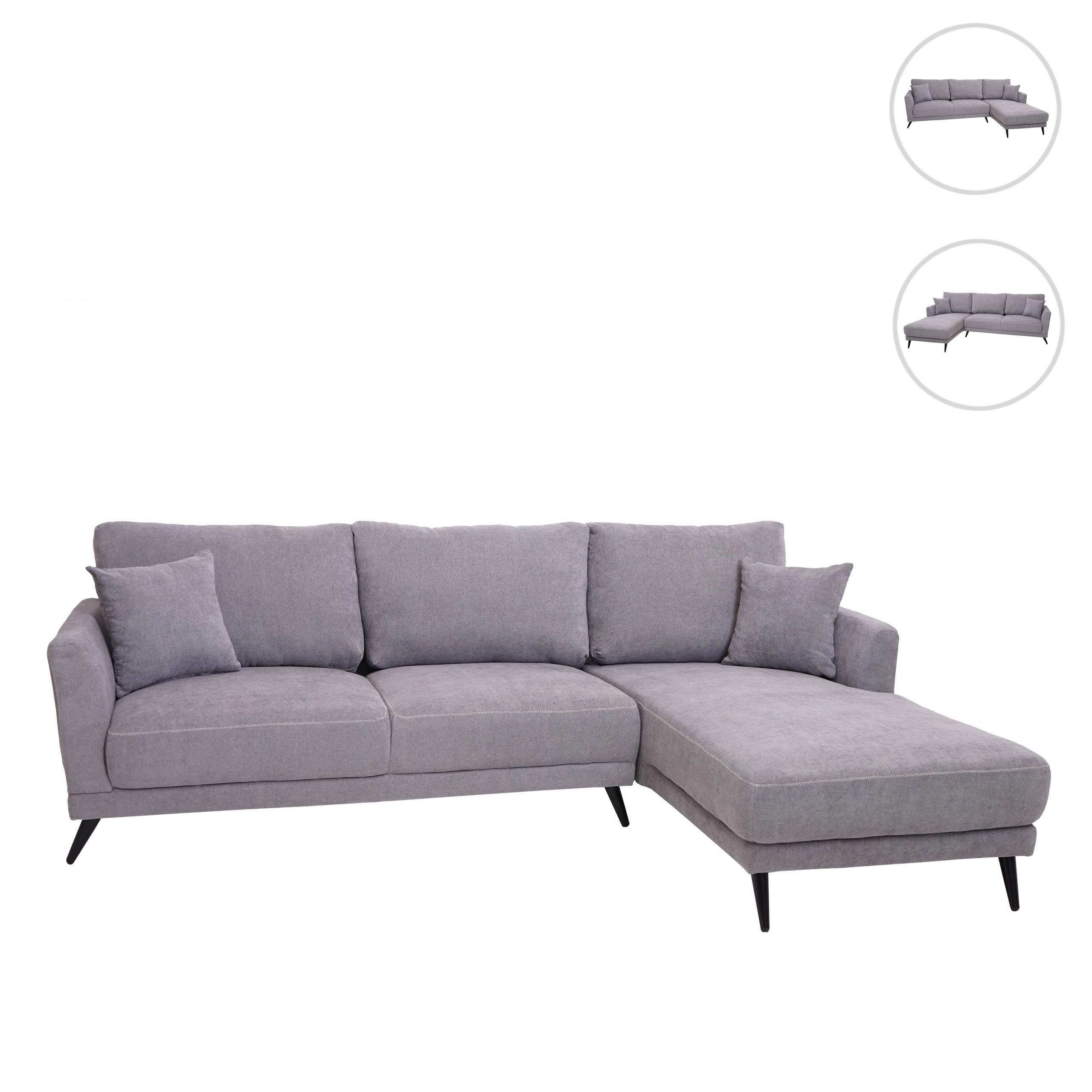 Mendler Sofa HWC-G45, Couch Ecksofa L-Form 3-Sitzer, Liegefläche Nosagfederung Taschenfederkern ~ Variantena 71602+71603