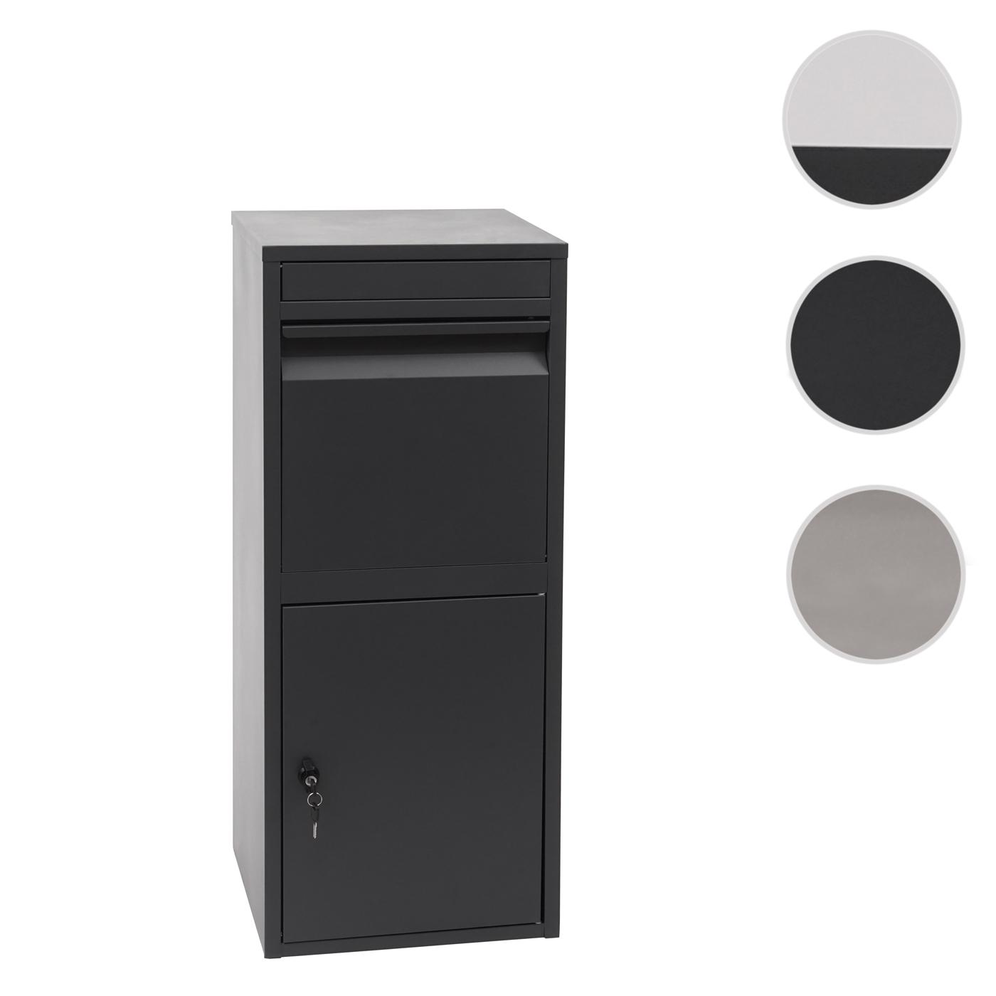 Mendler Paketkasten HWC-G80, Paketbox Standbriefkasten Paketbriefkasten Briefkasten ~ Variantenangebot 72092