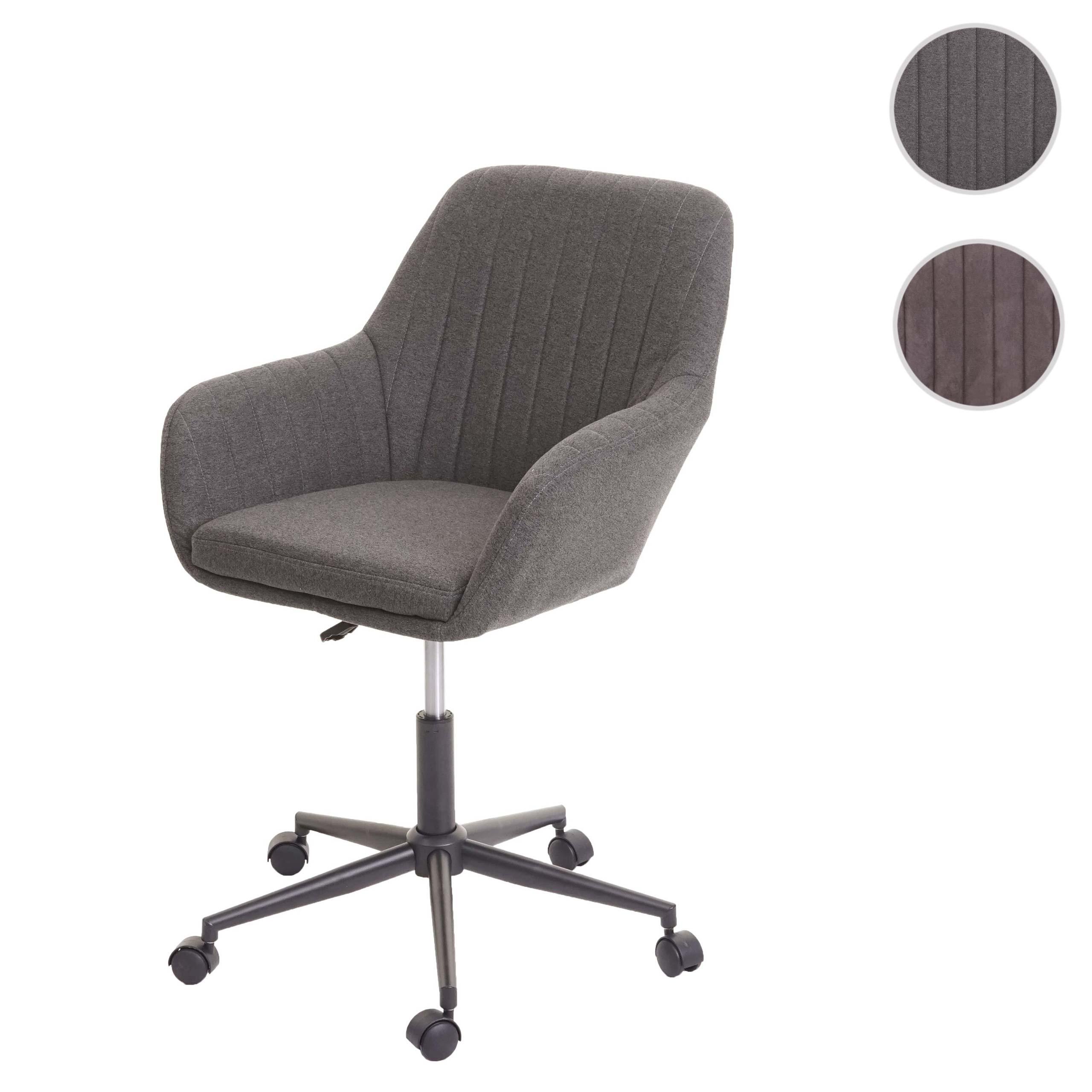 Mendler Bürostuhl HWC-D35, Drehstuhl Schreibtischstuhl Lehnstuhl Stuhl, Stoff/Textil mit Armlehne ~ Variante 72099