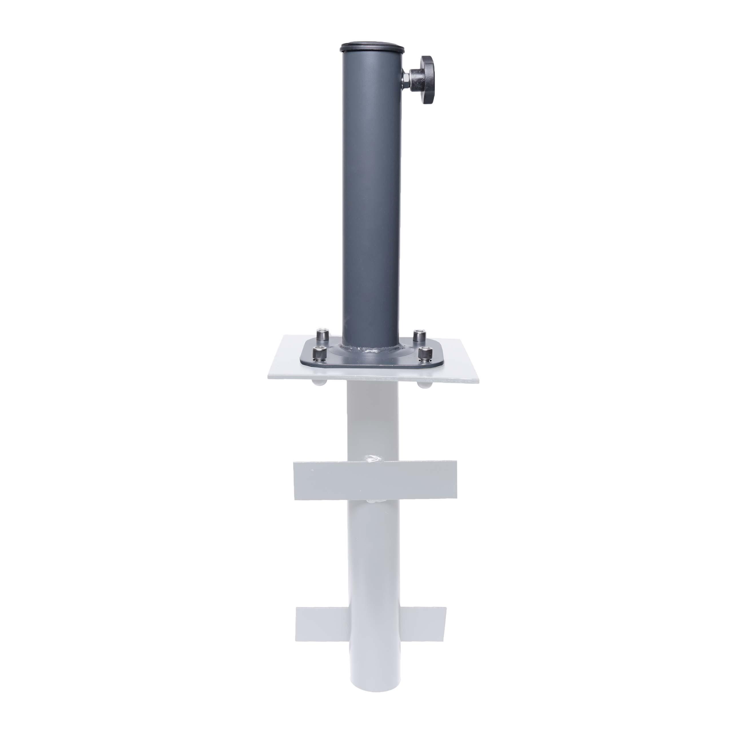 Mendler Ständer auf Bodenhülse HWC-A96, Schirmständer für Bodenanker/-platte/-montage Sonnen-/Ampelschirm, M 72571