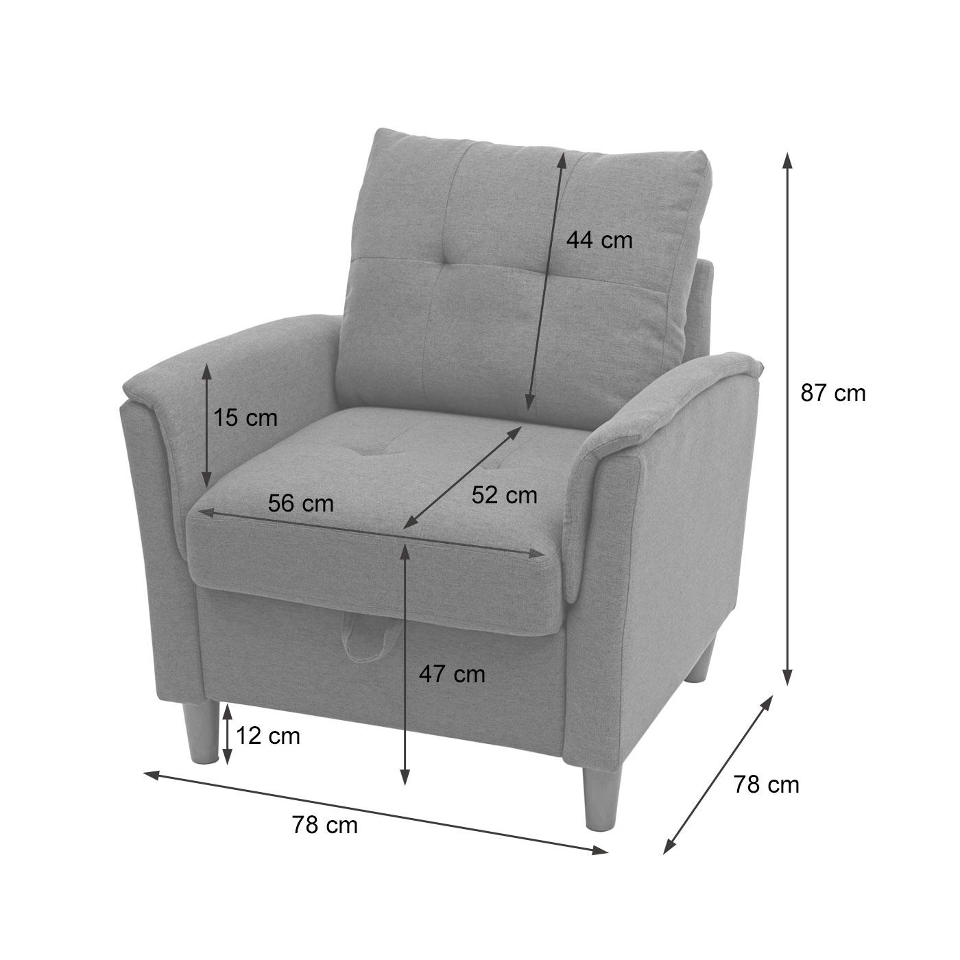 HWC-H23 Sessel Bemaßungsbild