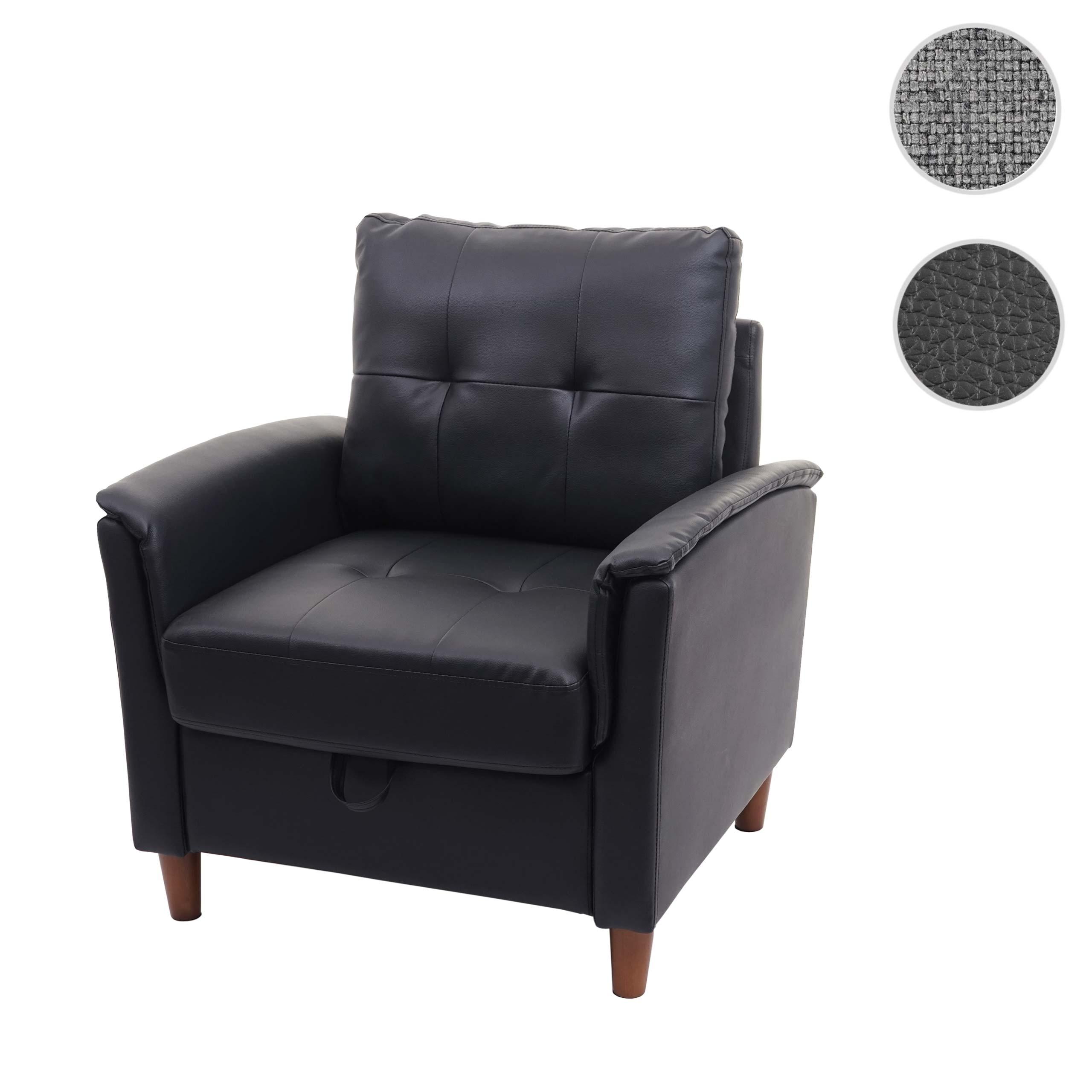 Mendler Sessel HWC-H23, Loungesessel Cocktailsessel Relaxsessel Fernsehsessel, Stecksystem Staufach ~ Varian 72691