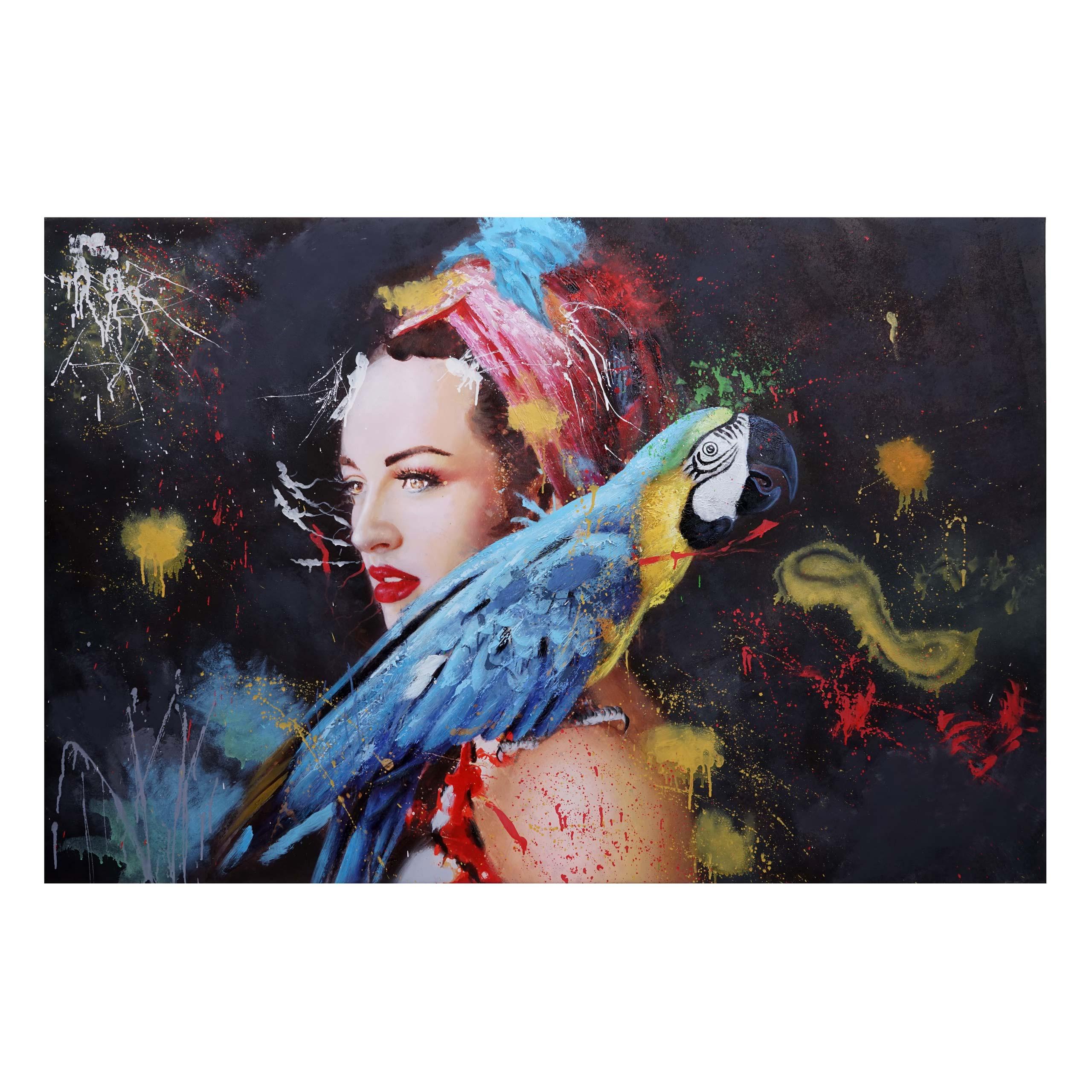 Mendler Ölgemälde Frau HWC-H25, Leinwandbild Wandgemälde Gemälde, handgemaltes XL Wandbild ~ Variantenangebo 72764