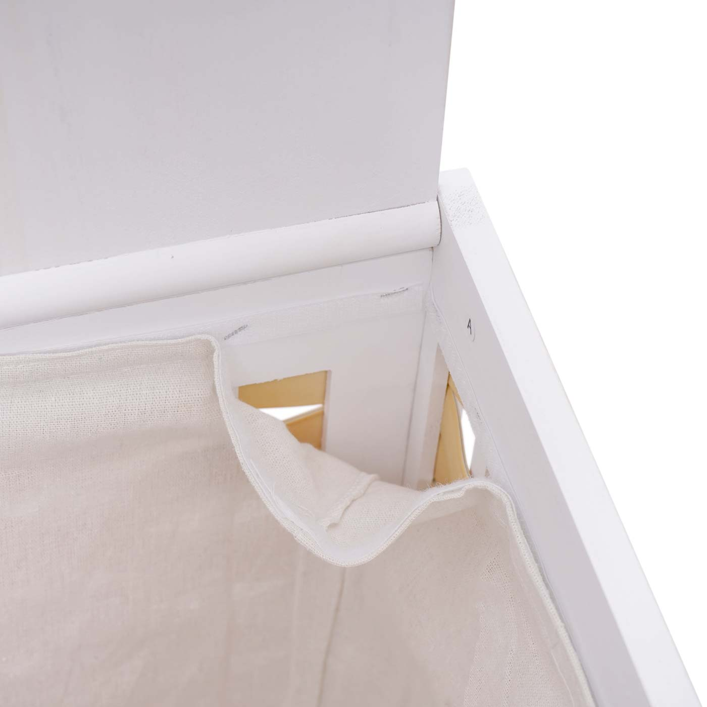 Set Paravent + Wäschekorb HWC-G37 Detailansicht Klettverschluss