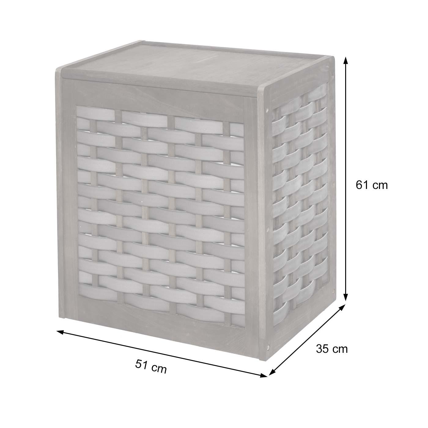 Set Paravent + Wäschekorb HWC-G37 Bemaßungsbild Wäschekorb