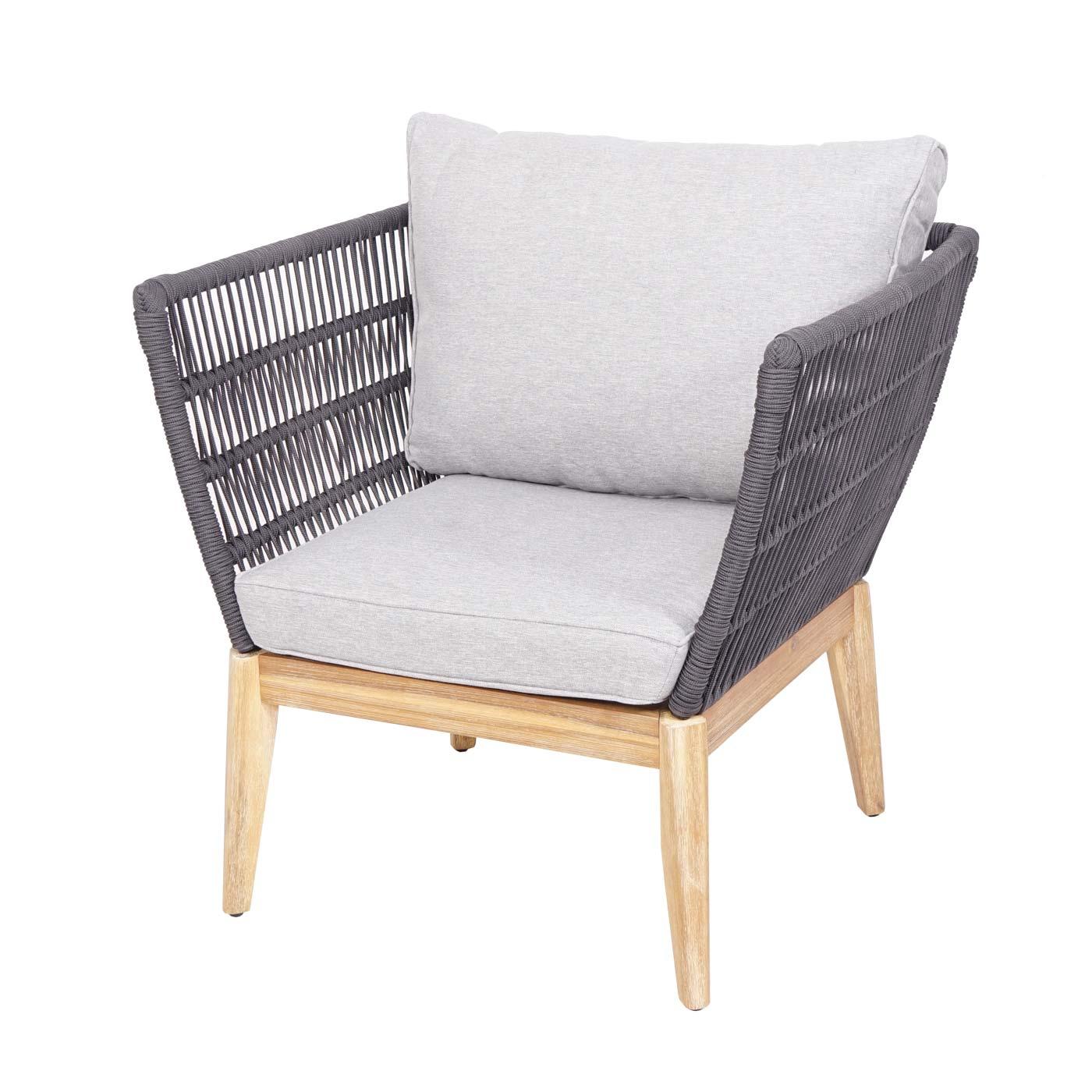 Gartengarnitur HWC-H55 Sessel Vorderansicht