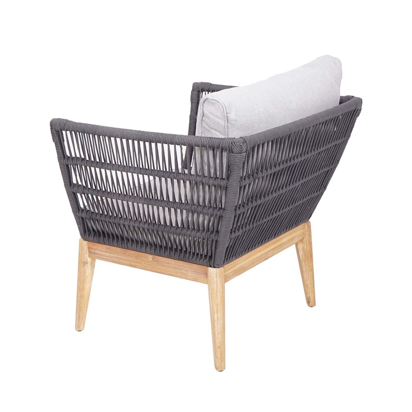 Gartengarnitur HWC-H55 Sessel Rückansicht