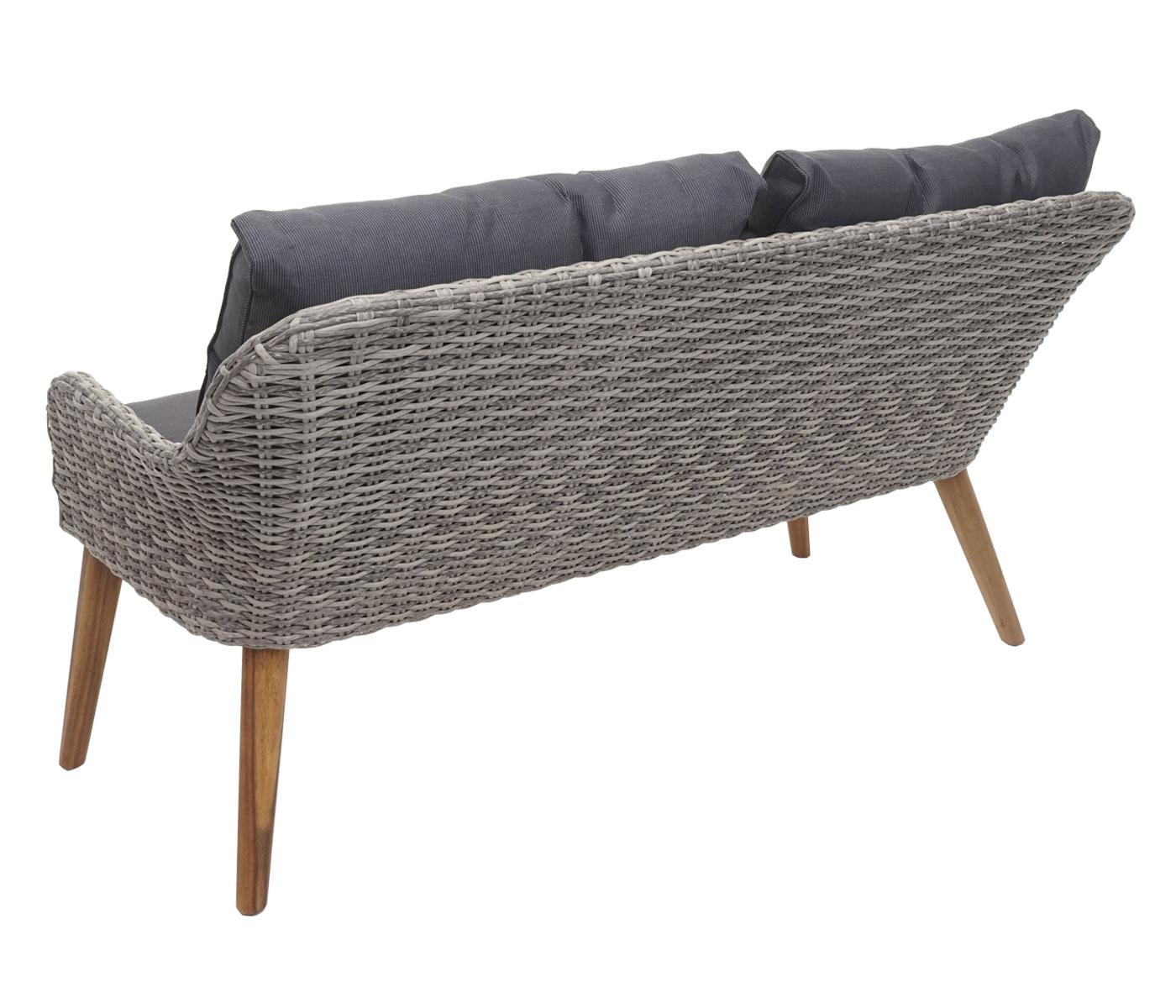 Gartengarnitur HWC-H64 Rückansicht Sofa