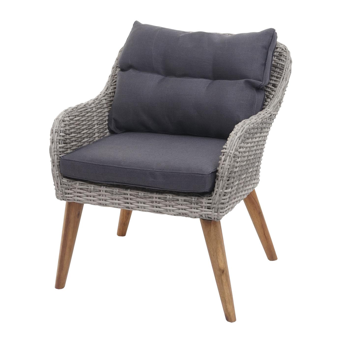 Gartengarnitur HWC-H64 Frontansicht Sessel